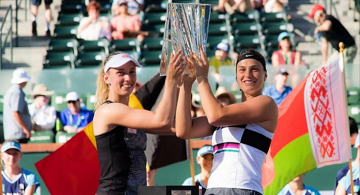 WTA Tour. BNP Paribas Open 2019. Соболенко завоевала титул в паре