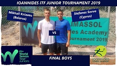 ITF World Junior Tour. Ioannides Academy Junior Tournament. Михаил Князев — финалист одиночного зачета